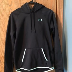 Black Nike Sweatshirt with Teal Detail Size Small
